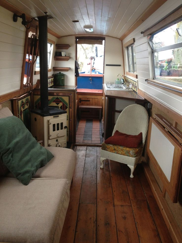 Image gallery narrow boat interior for Boat interior design ideas home