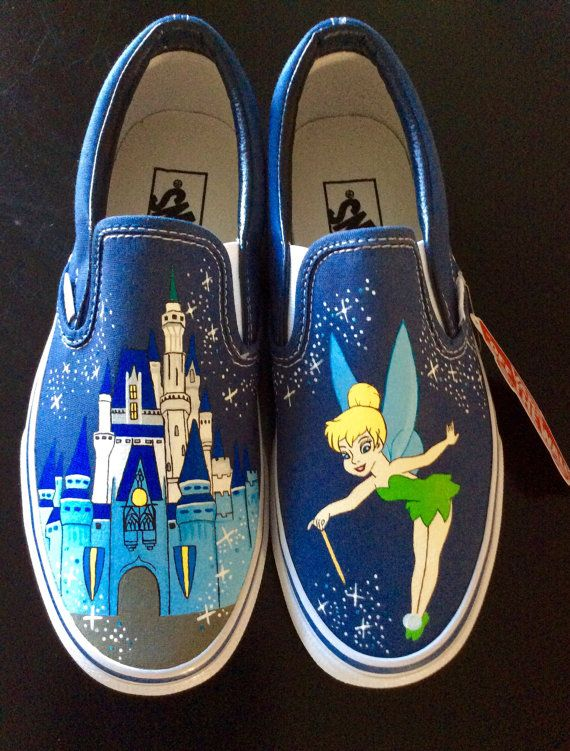 Hey, I found this really awesome Etsy listing at https://www.etsy.com/listing/231400071/vans-tinkerbell-womens-slip-on-shoes