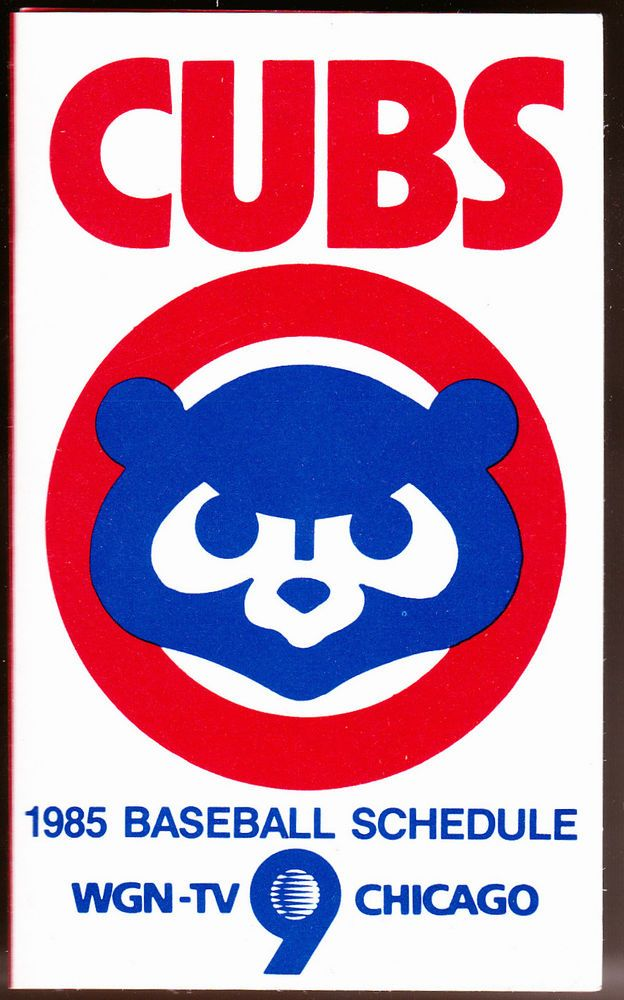 1985 chicago cubs wgn tv toyota baseball pocket schedule free shipping from $3.49