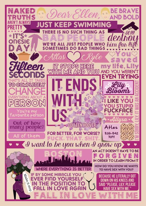"Book Collage based on 'It Ends With Us' by Colleen Hoover I've been wanting to post this foreverrrrr but I've been wary of posting anything too spoiler-y since it's a new-ish release and Colleen has been very set on the ""Read it Blind"" idea - which I..."