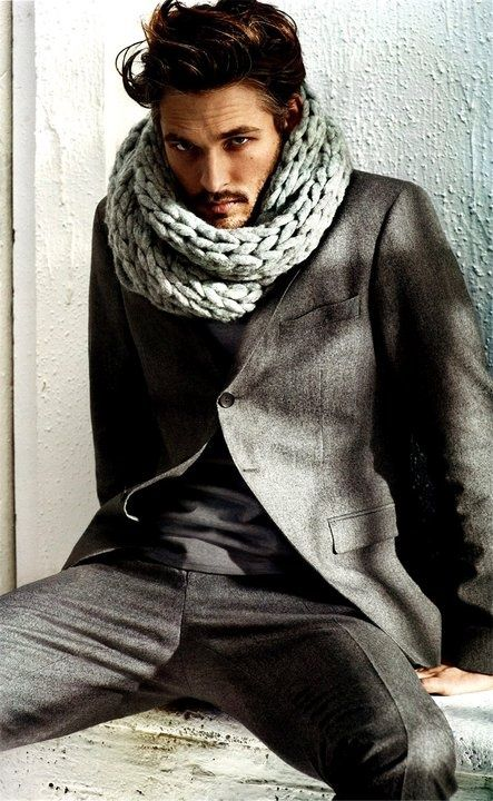 This guy kind of looks like a turtle wearing his scarf like that. Haha!
