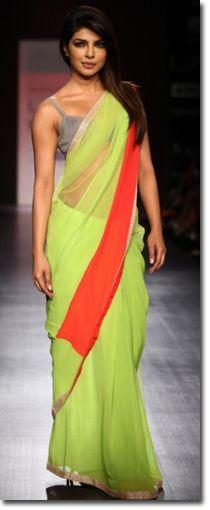 Manish Malhotra Sarees - Fashion Week - Priyanka Chopra