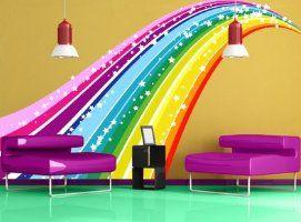 rainbow wall mural decal sticker-rainbow wall mural decal sticker
