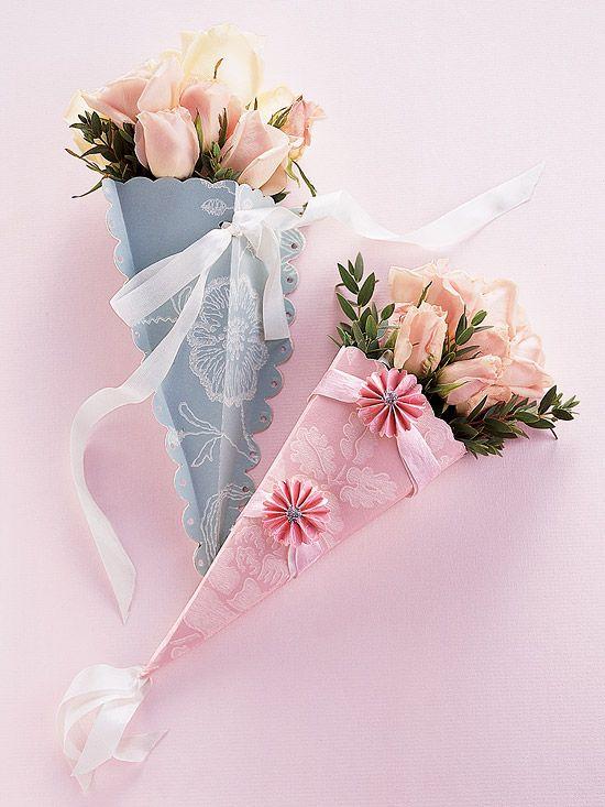 Best bouquet holder ideas on pinterest lace ribbon