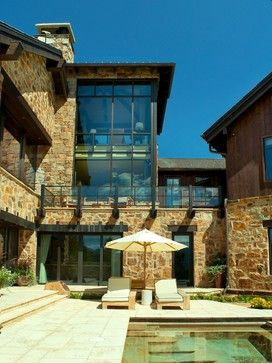 Rustic Exterior Contemporary Exterior   Pool And House Envy! Part 49