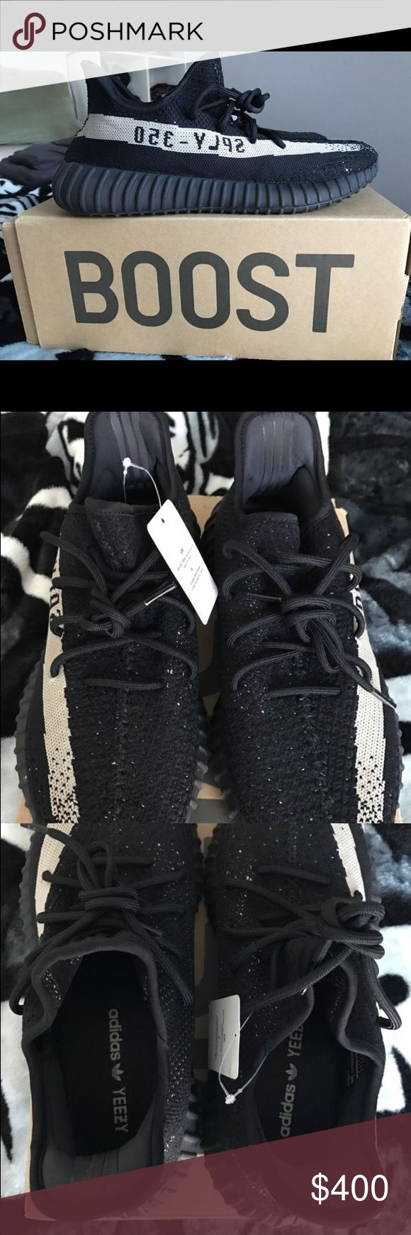 Adidas Yeezy 350 V2 Boost Low SPLY Kanye West Adidas Yeezy 350 V2 Boost Low SPLY Kanye West Black White Oreo Yeezy Shoes Sneakers