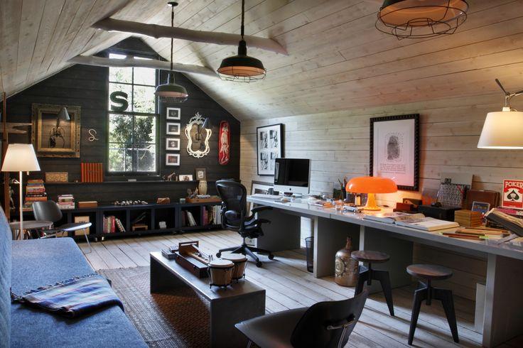 Loft office in party barn