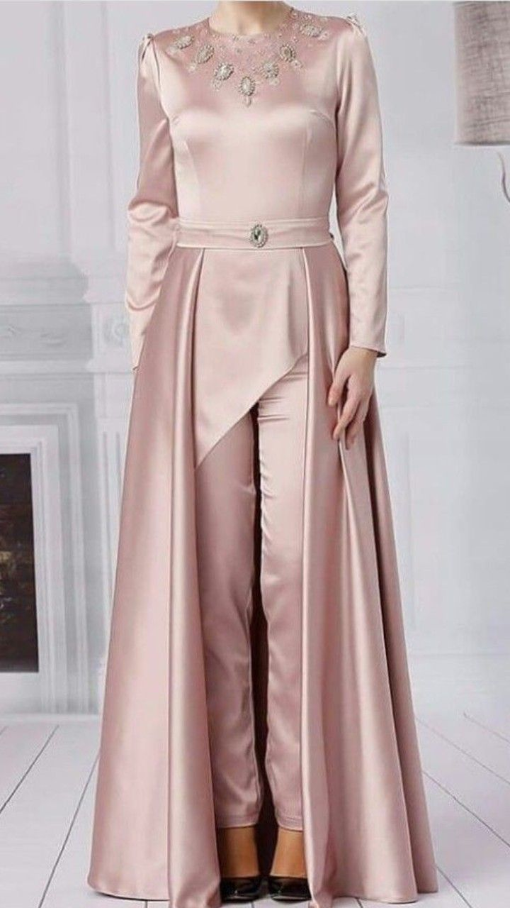 beautiful satin Long Dress with modern silhouettes and cuts ... f1b25108e