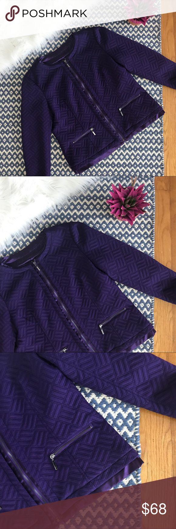 Laura Ashley Purple Quilted Blazer NWT A Laura Ashley Jackets & Coats Blazers
