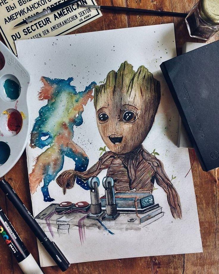 Groot  #tattoo #tatuagem #desenho #drawing #arte #art #filme #movie