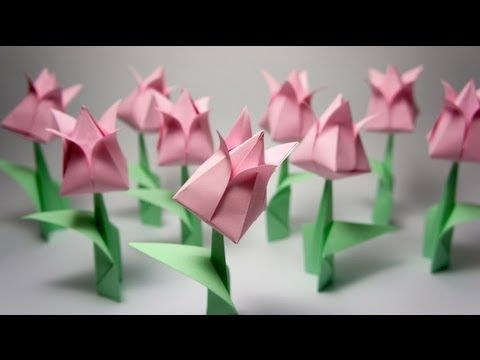 Origami Tulip - YouTube