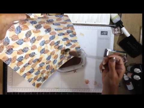 cardmaking video tutorial: Thoughtful Branches One Sheet Wonder by Stampin' UP! ... luv the colors ... quick and easy but fab look with copper embossing ...