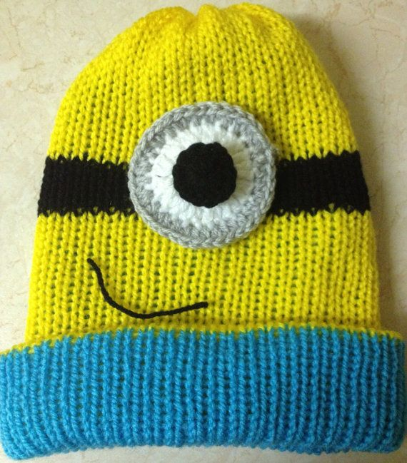 Knitting Pattern Minion Hat Images Knitting Patterns Free Download