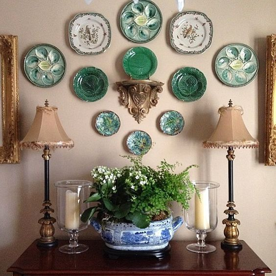 """""""I couldn't pass up joining in on the #colormehappyparty since the color this week is my favorite color green!! There were so many pictures to choose from, but I'm posting a picture from a while back that shows some of my favorite things...green majolica, blue and white and maidenhair fern!"""" Photo taken by @stacywlewis on Instagram, pinned via the InstaPin iOS App! http://www.instapinapp.com (08/10/2015):"""