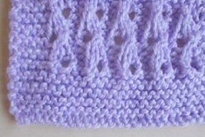 Lilac Blossom Baby Blanket | AllFreeKnitting.com