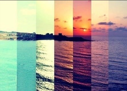 sea, sun, and sunset image | :)