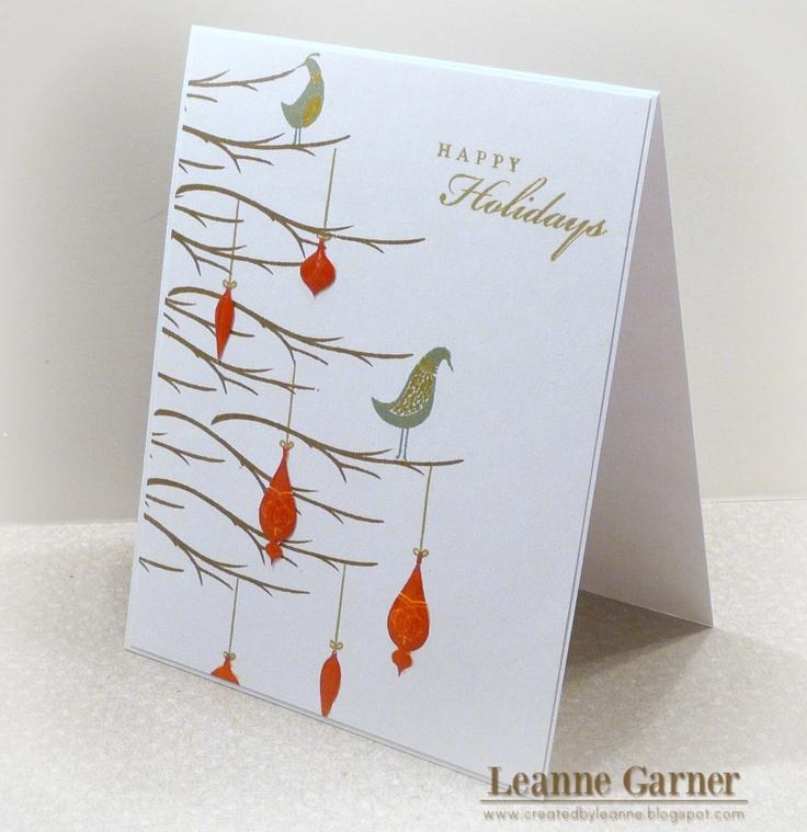 CTMH Christmas Card - Pear & Partridge WOTG
