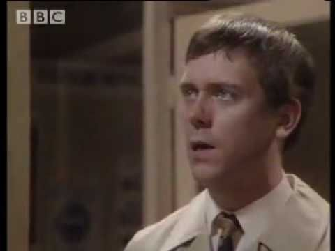 """Hugh Laurie & Stephen Fry - 'Your name, sir?' (The best part got left out, at the end when Hugh says """"never mind the bloody sketch, that was too hard!"""") - A Bit of Fry & Laurie."""