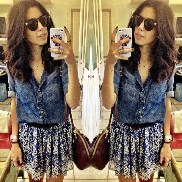.@garotasestupidas | Páscoa all blue!  camisa Anthropologie + saia Zara + cinto CA | Webstagram - the best Instagram viewer