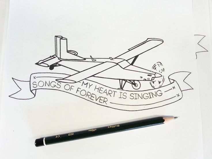 Plane Tattoo Sketch - by Shane Rielly
