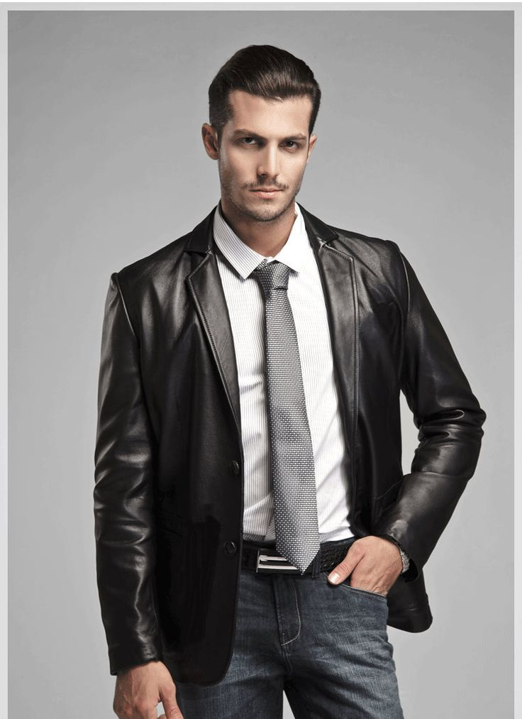 17 beste ideeën over Mens Leather Blazer op Pinterest - Herenstijl