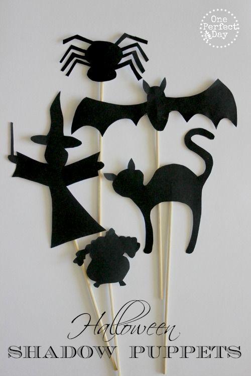 Halloween shadow puppets printable ~ kids shadow activity