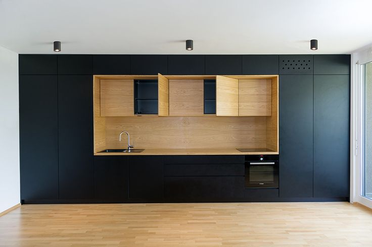 Image 8 of 22 from gallery of Black Line Apartment / Arhitektura d.o.o.. Photograph by Jure Goršič