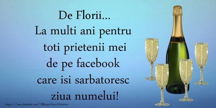 De Florii ... La multi ani pentru toti prietenii mei de pe facebook care isi sarbatoresc ziua numelui!