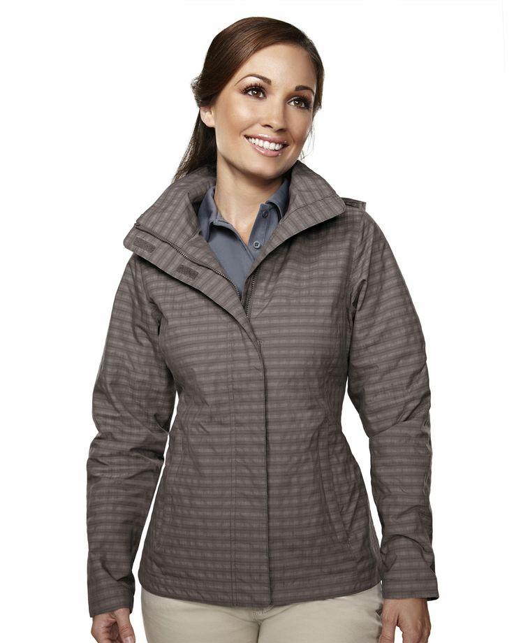 Women's Mini Plaid Rain Resistant Jacket (75% Nylon 25% Polyester) 8023 Inverness #RainResistant #Jacket