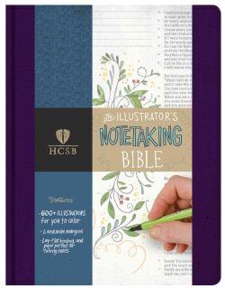 Illustrator's Notetaking Bible: Holman Christian Standard, Purple Linen (Hardcover)