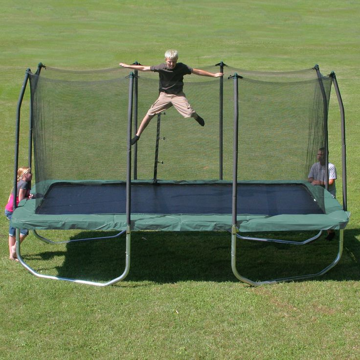 Skywalker Trampolines Rectangle 8 x 14 ft. Trampoline with Enclosure - Getting your kids to exercise just got a whole lot easier.…