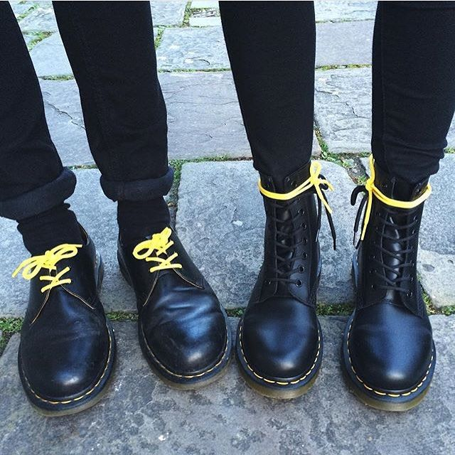 The 1461 shoe and the 1460 boot. Tag your Dr. Martens partner in crime with #doubledocs.  Shared by @siobhxncorbin #drmartenstyle