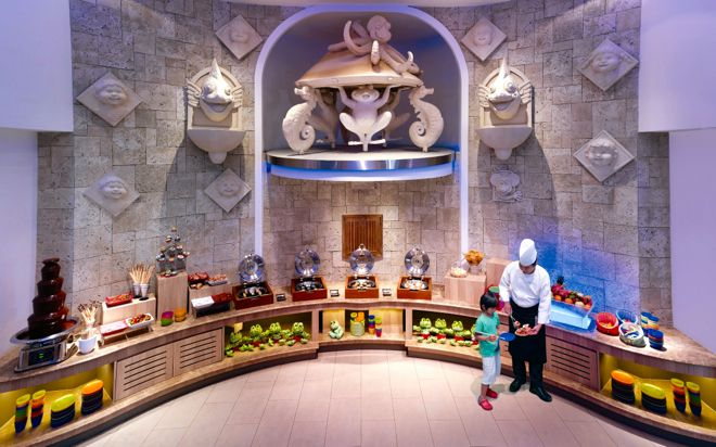 How is this for family friendly? A hotel buffet just for kids! And yes, that is a chocolate fountain! http://www.suitcasesandstrollers.com/articles/view/family-friendly-accommodation-in-singapore-with-kids?l=all #travel #travelwithkids #familytravel #familytraveltips #traveltips #traveltips2015