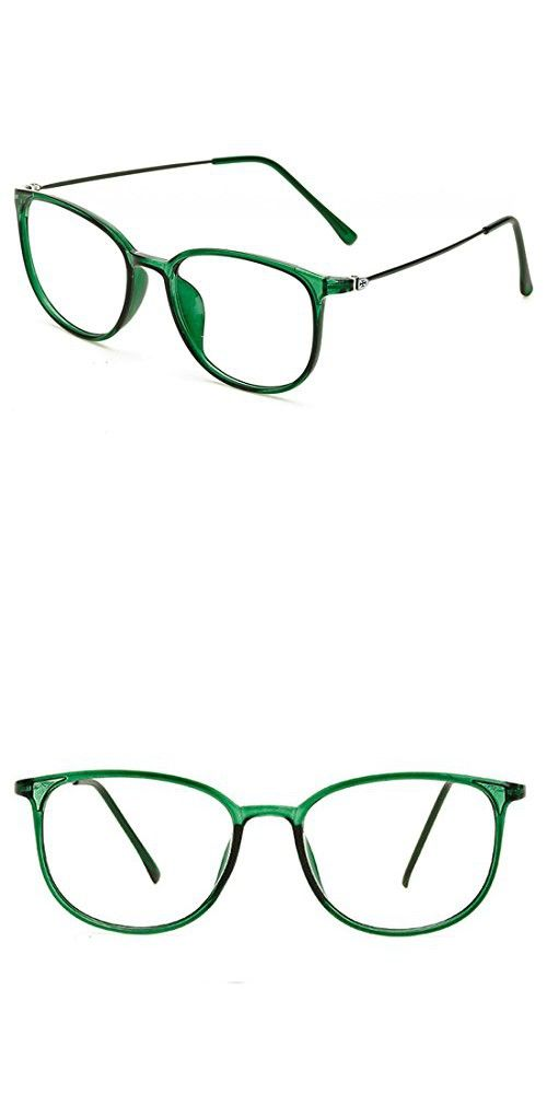 9c8aa214589 D.king Womens Fashion Oversized Horn Rimmed Clear Lens Round Circle Glasses  Frames Eyeglasses Green