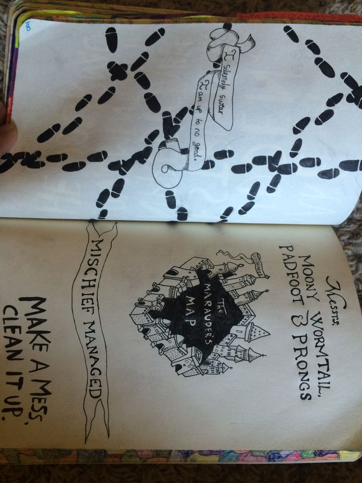Wreck This Journal: Make a mess; clean it up - Harry Potter. This took so long XD