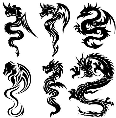 9 best award certificate images on pinterest award certificates set of the chinese dragons tribal tattoo stock vector flanker yelopaper Gallery