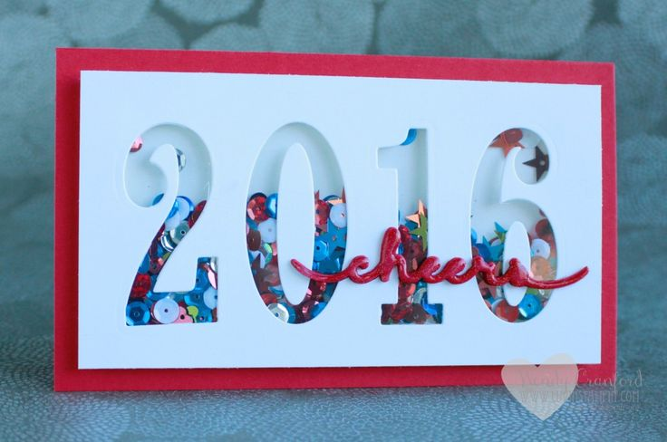 Fun 2016 shaker card using the 2016 Stampin' UP! Occasions catalog framelits Large Numbers. Created by Wendy Cranford www.luvinstampin.com