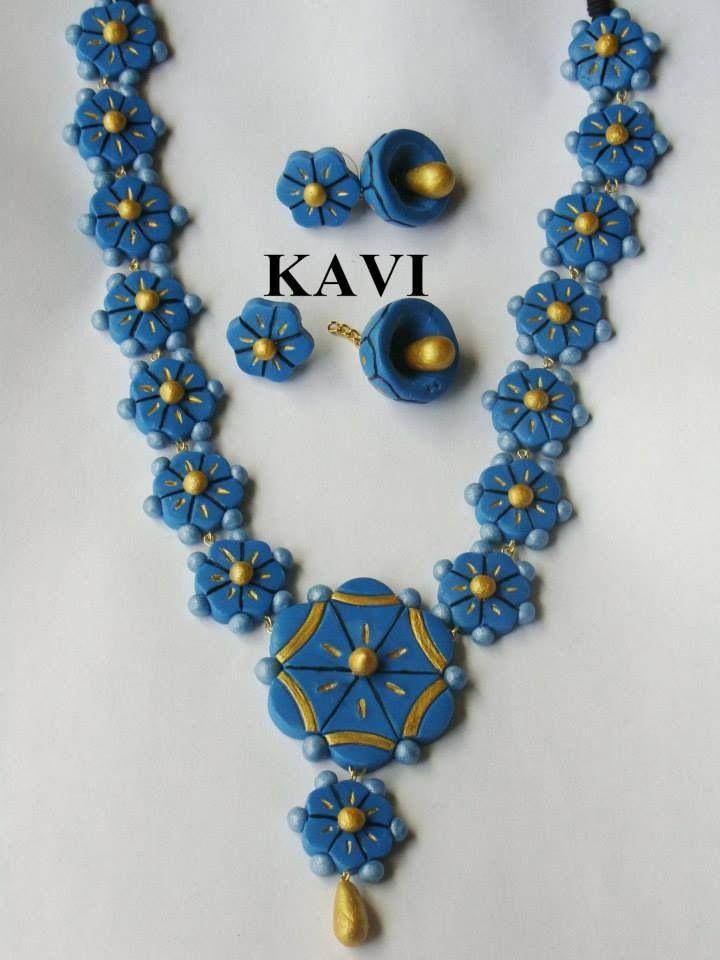 Handmade flower polymer clay jewelry https://www.facebook.com/KavisTerracottajewellery