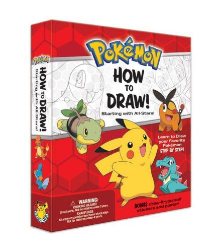 cool Pokemon How-to-Draw Kit: Starting with All-Stars!http://fisheyepix.co.uk/shop/pokemon-how-to-draw-kit-starting-with-all-stars/   buy now     £12.57  Gotta Draw 'Em All Discover the Pokemon artist in you with over a dozen different all-star Pokemon.... ...