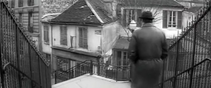 """El mismo rincón de Rififí en la película """"La métamorphose des cloportes"""" Lino Ventura avanza"""