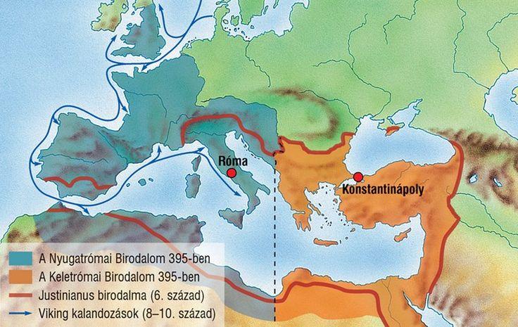 Európa a Római Birodalom kettészakadása után