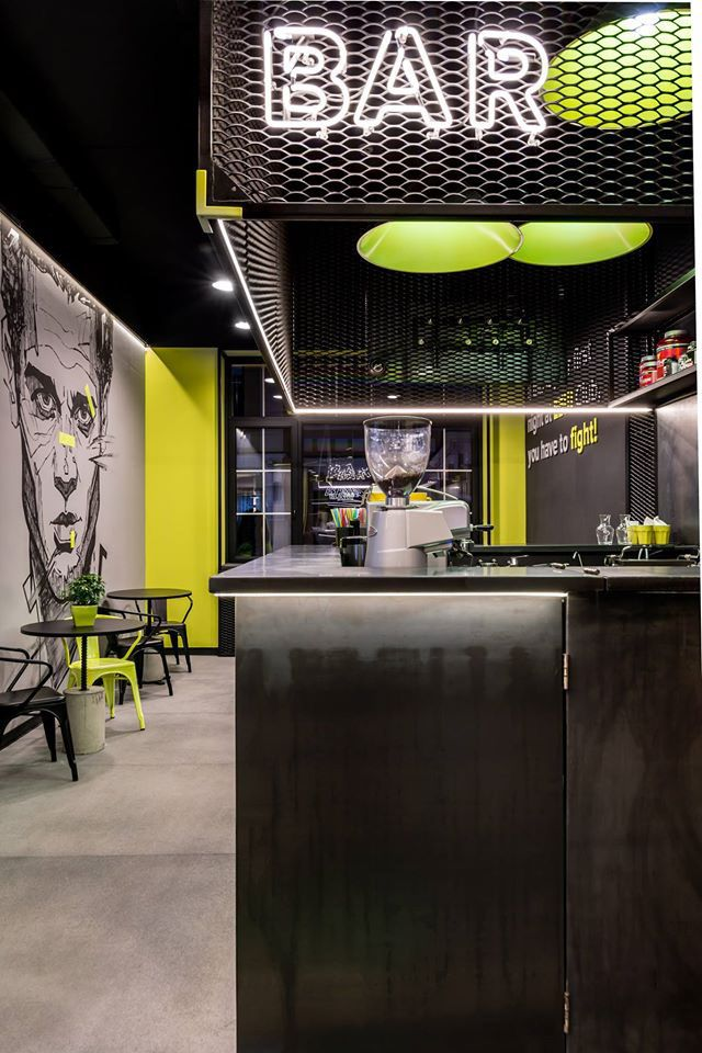 ЕБШ (ebsh) - new sports club in Kiev for the ruthless training. Designed by SOesthetic group (Ukraine).