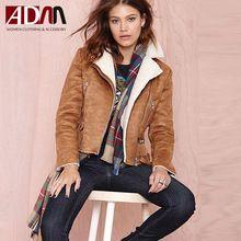 Adm 2016 Brand New automne & hiver veste en daim femmes Street Style revers mince mode manteau manteaux Casual femmes , Plus la taille xs - 2xl(China (Mainland))