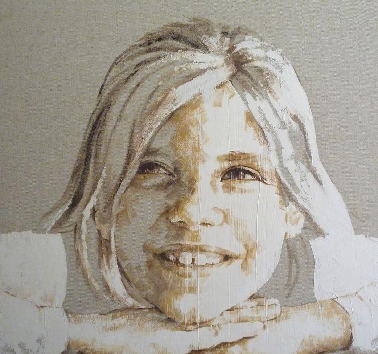 niña retrato 80 x 80 M. Isabel Barros Alcalde