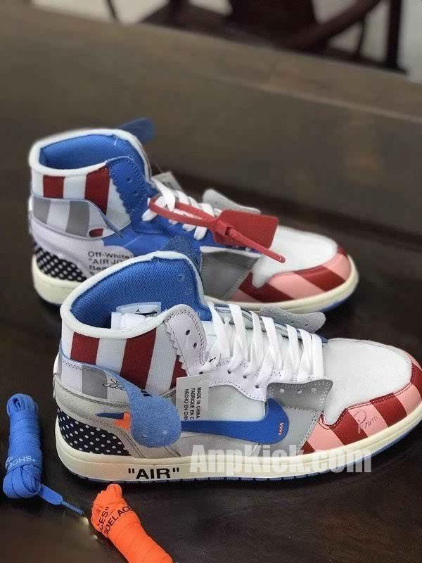 89da0399e61 parra off white air jordan 1 customize shoes custom made jordans (6) -  AnpKick