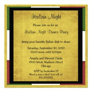 italian dinner party | Italian Dinner Invites, 106 Italian Dinner Invitation Templates