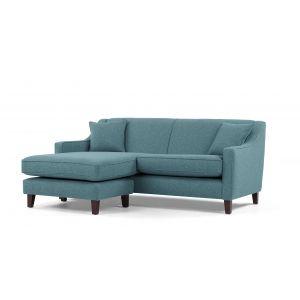 teal made chaise sofa