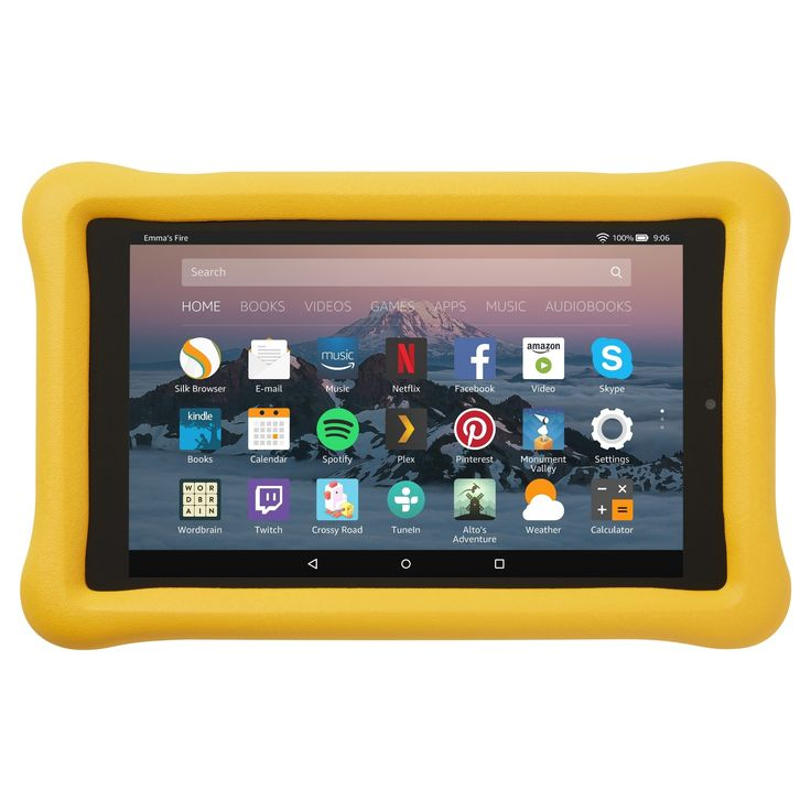Amazon Kid-Proof Case for Amazon Fire HD 8 Tablet (7th Generation, 2017 Release) - Yellow