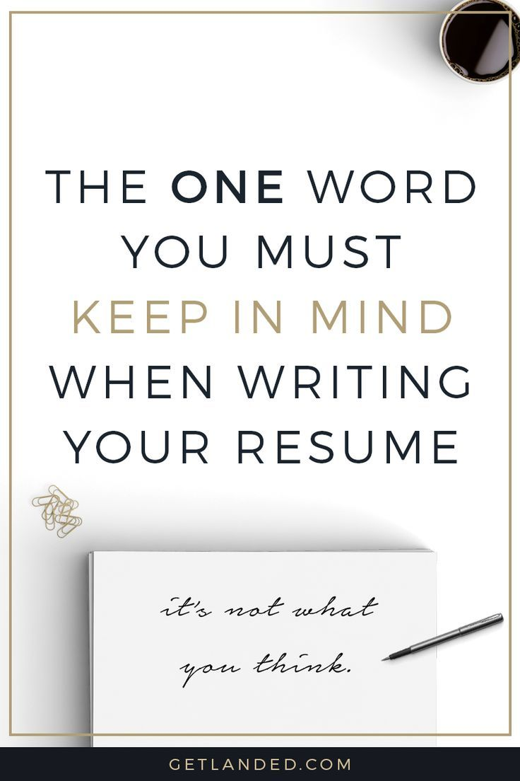 Newsflash: Your Resume Isnu0027t Really All About You. Keep This One Word In  Mind And Youu0027ll Stand Out From Your Competition. Resume Writing Tips Resume  Tips ...