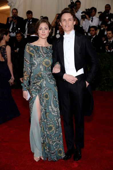 "Eddie Redmayne (R) and Hannah Bagshawe attend the ""Charles James: Beyond Fashion"" Costume Institute Gala at the Metropolitan Museum of Art on May 5, 2014 in New York City"